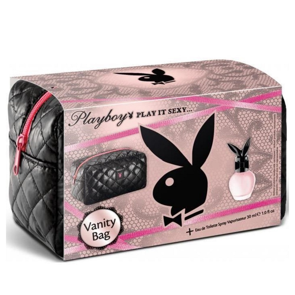 PLAYBOY - Coffret Femme Eau de Toilette + Gel de douche + Vanity bag Play It Sexy