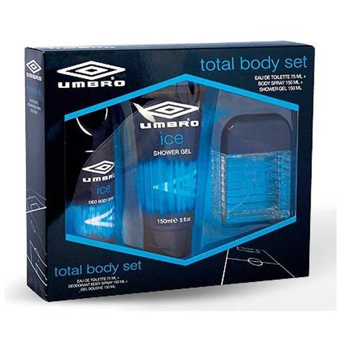 UMBRO - Coffret Eau de Toilette + Déodorant body spray + Gel douche